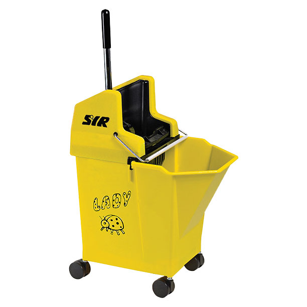 Lady Bucket With 2inch Castors Yellow - SYR