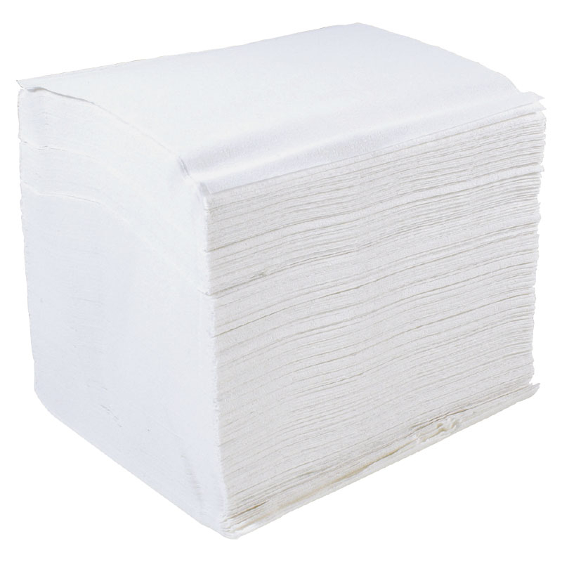 Bulk Pack 1 PLY White 500 Sheet 36 Sleeves Per Box