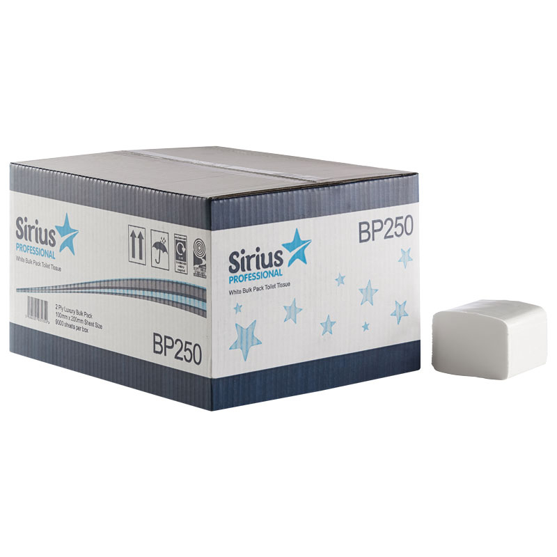 Bulk Pack 2 PLY White 250 Sheet 36 Sleeves Per Box