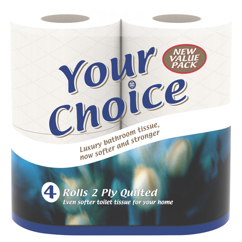 Your Choice Toilet Rolls Super Opti Soft Luxury 45/Pack