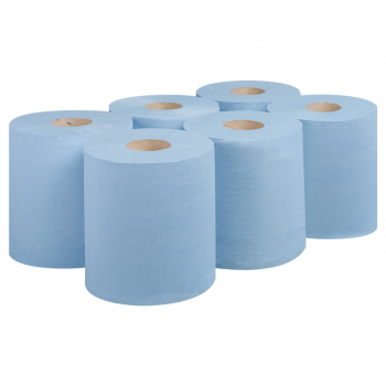 Blue 2ply Centrefeed Rolls 150m (Case/6)