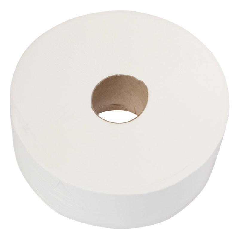 Jumbo Toilet Roll 400M 2PLY White 6 Per Pack 76MM Core