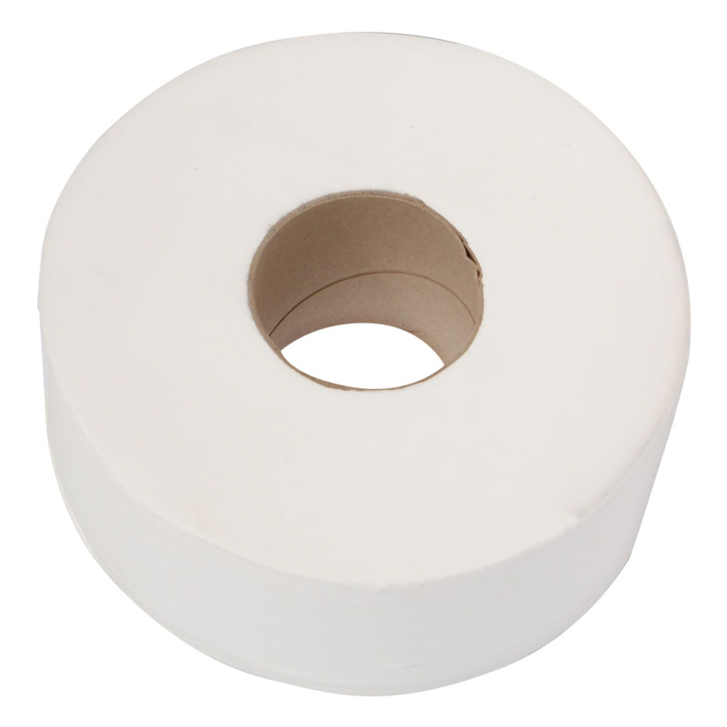 Mini Jumbo Toilet Rolls 2PLY White 200M 12 Per Pack L/C