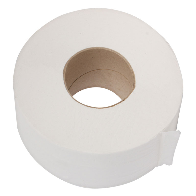Mini Jumbo Toilet Rolls 1PLY White 300M 12 Per Pack L/C