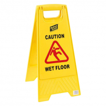 Yellow Folding Wet Floor Safety Sign
