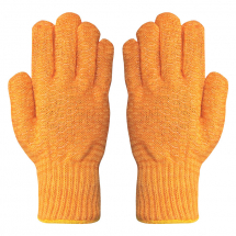 Yellow Polyester Criss Cross Gloves (Pack/10)