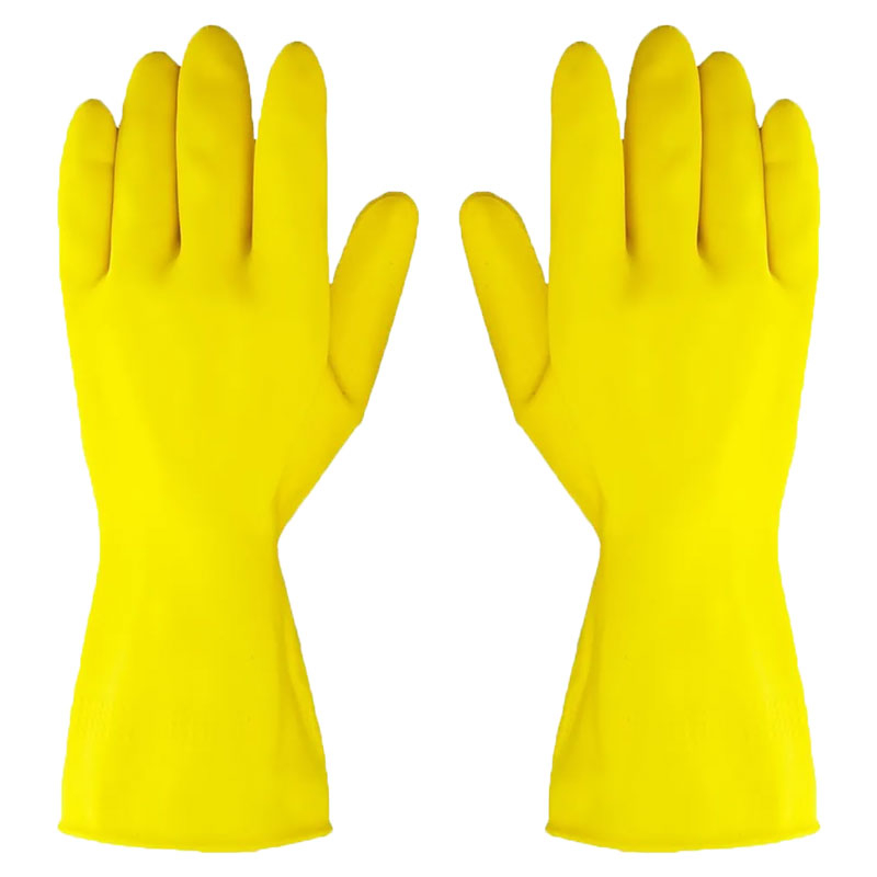 Lined Latex Glove -  XL 9.5 Yellow Washing Up Glove