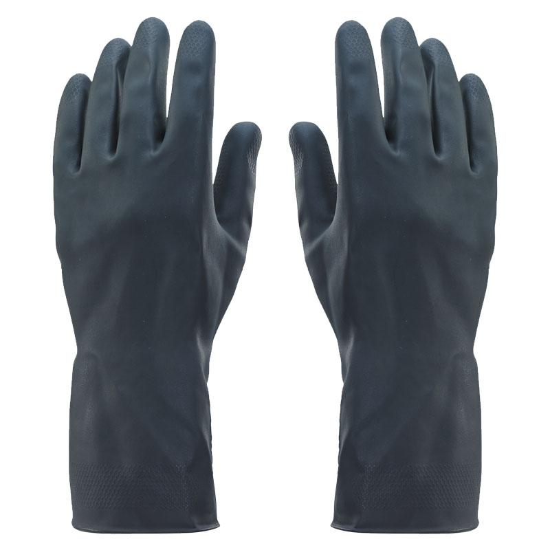 415 Black Flock Lined Glove 10