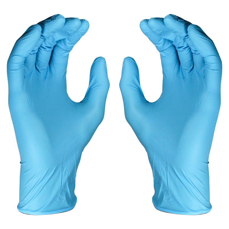 Blue Nitrile Dispo Glove Large Lightly Powdered