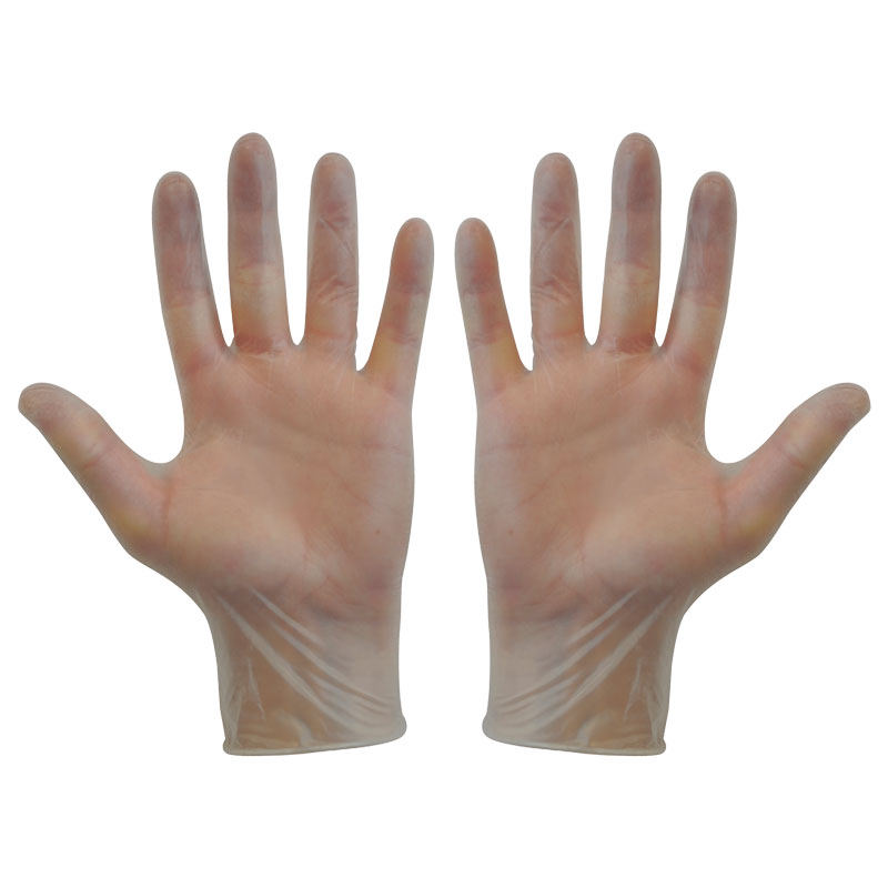 Vinyl Disposable Gloves  8.5 100/Box   Large Clear