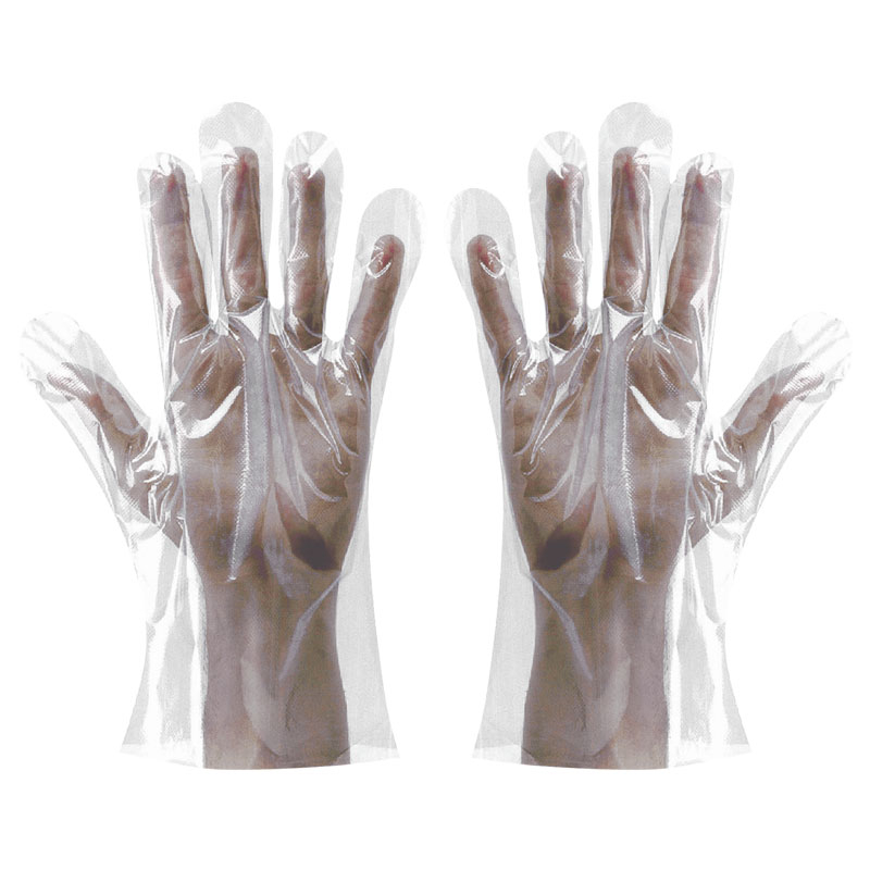 Polythene Clear Gloves In Bags Large 100 Per Pack