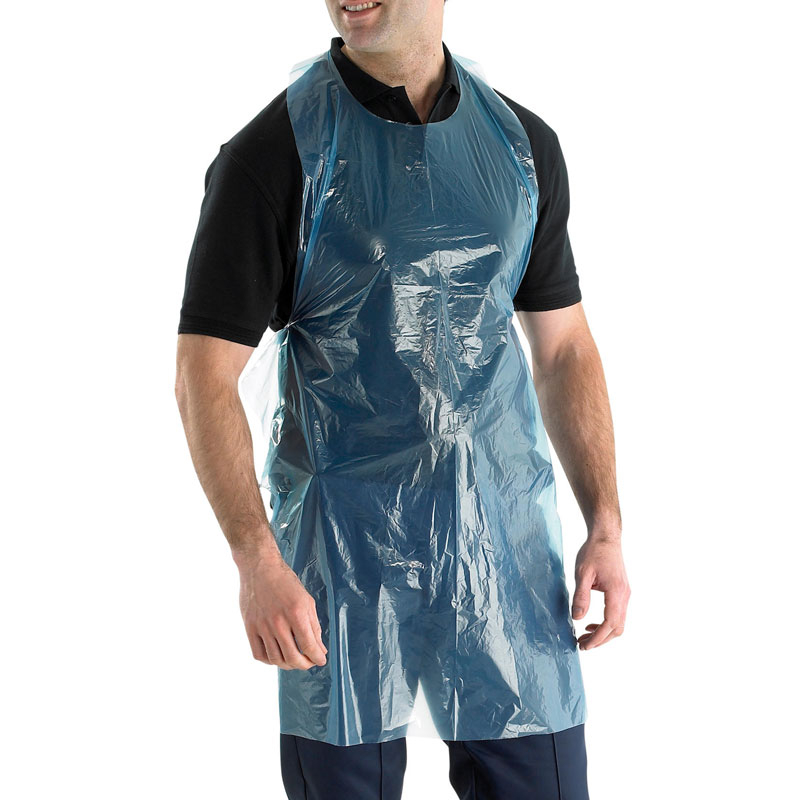 Blue Poly Aprons 100 Per Pack  Disposable