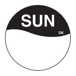 Day Dot Labels Sun/Black 1000 Per Roll