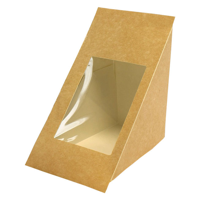 Brown Kraft Sandwich Pack 500 Per Box - Deepfill Wedge