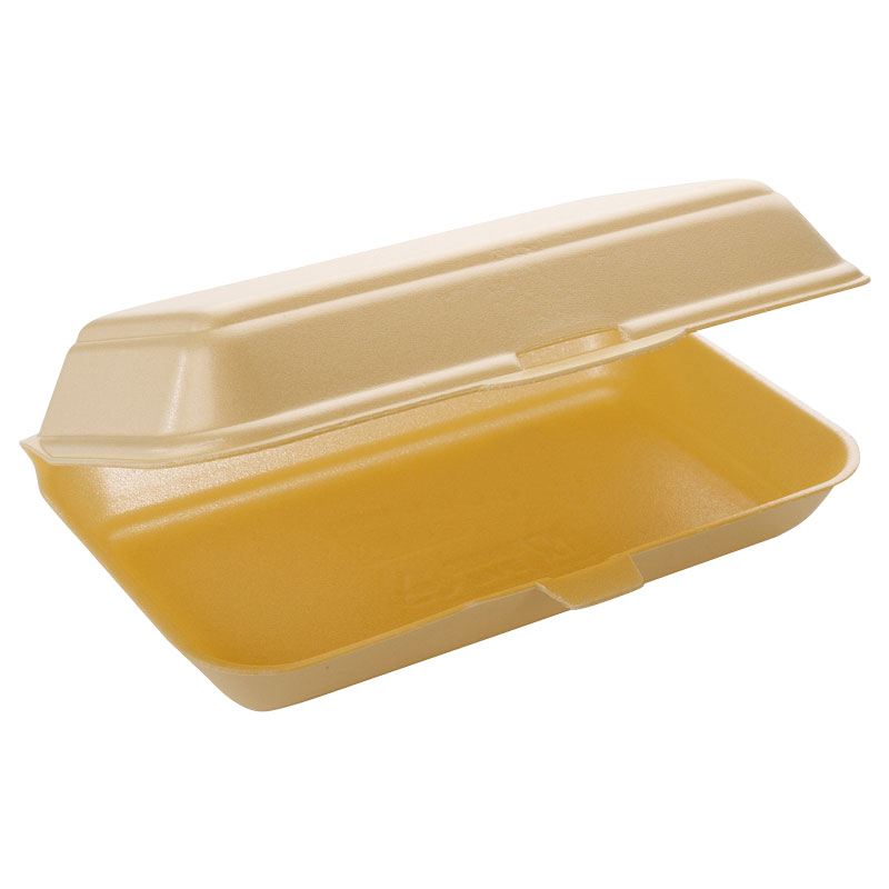 Fish & Chip Box Polystyrene TT10 250 Per Pack - Champagne