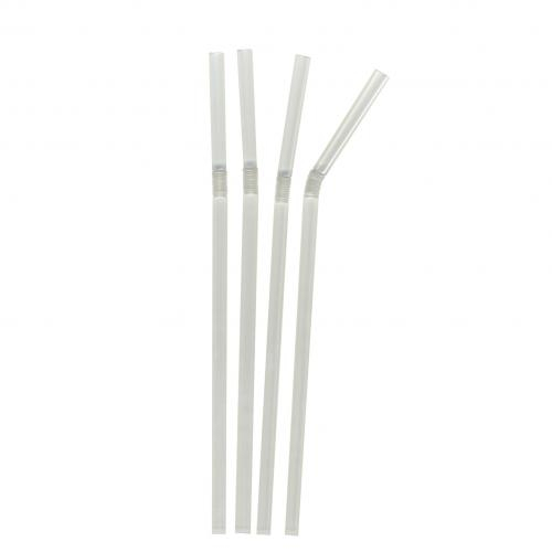 CLEAR 8inch FLEXI STRAWS 250 PER PACK
