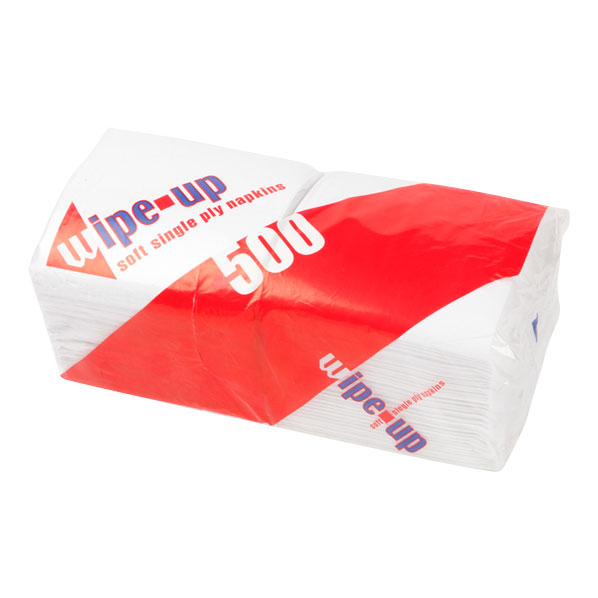 NAPKIN - 30CM WHITE SOFT 1PLY 5000/CASE
