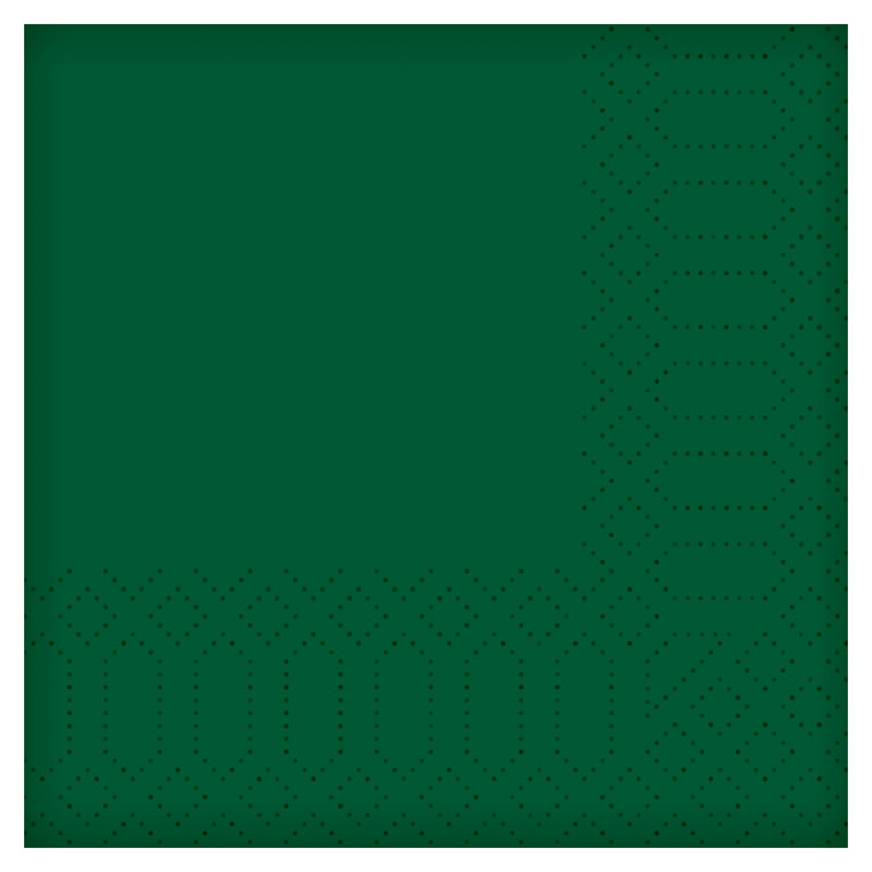 "16""/40CM 2PLY Tissue Dark Green Napkin 2000 P/Case   180409"