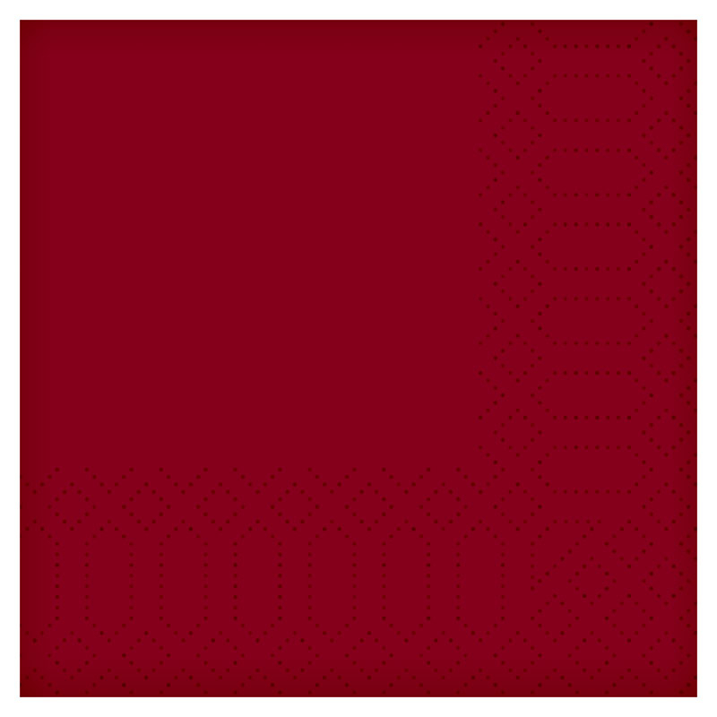 "16""/40 2PLY Tissue Bordeaux Napkin 2000/Case 180408"