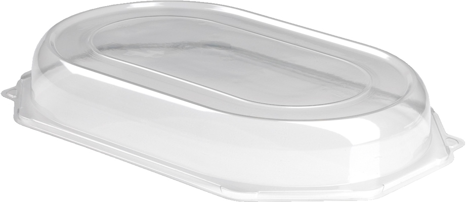 Small Clear Lid To Suit Small Black Platter 50/Case