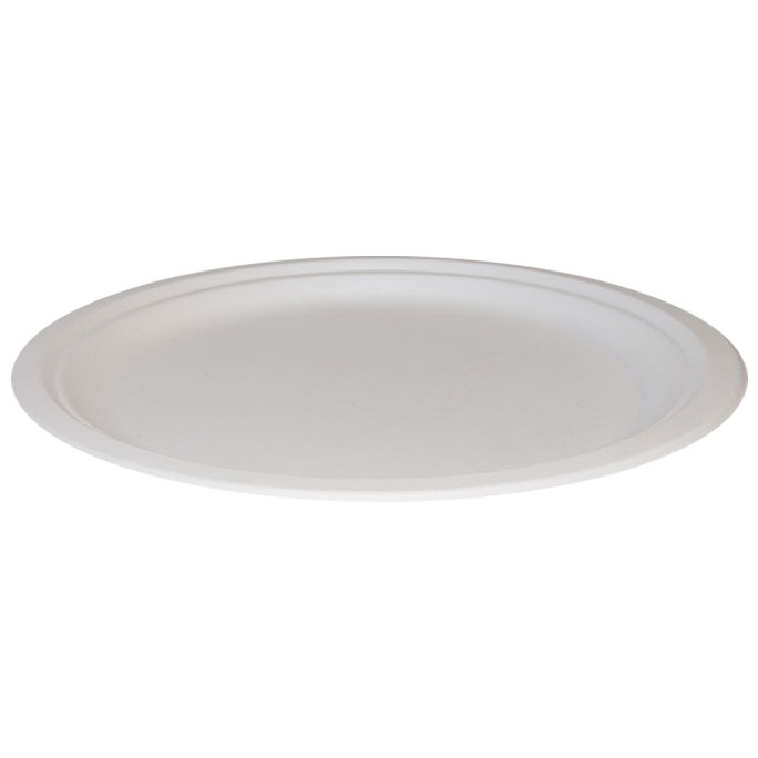 "Oval Bagasse Plates 10.1/4"" 500 Per Case"