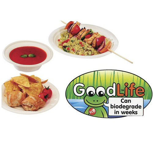 "9 1/2"" Goodlife Plate 500 Per Case"