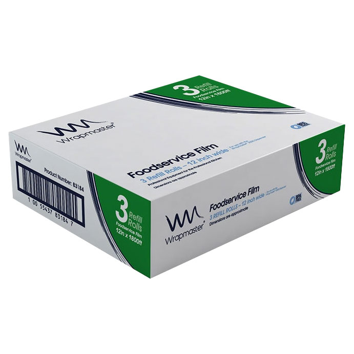 12IN WRAPMASTER 3000 REFILL(3) 3 ROLLS PER PACK - CLING FILM
