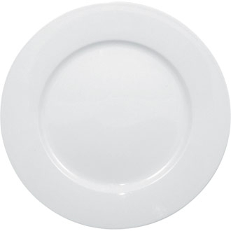 8Inch Wide Rimmed Plate - 12/Case Whiteware - Olympia