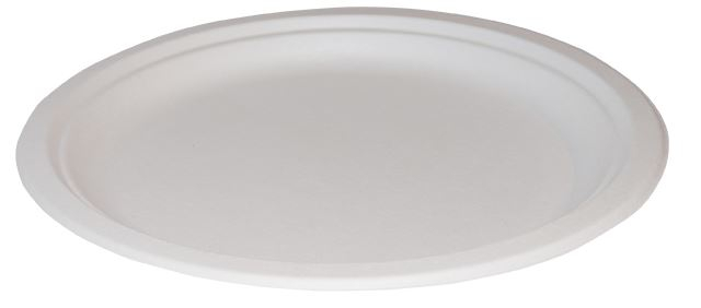 "7"" Bagasse Plate - Case/500"