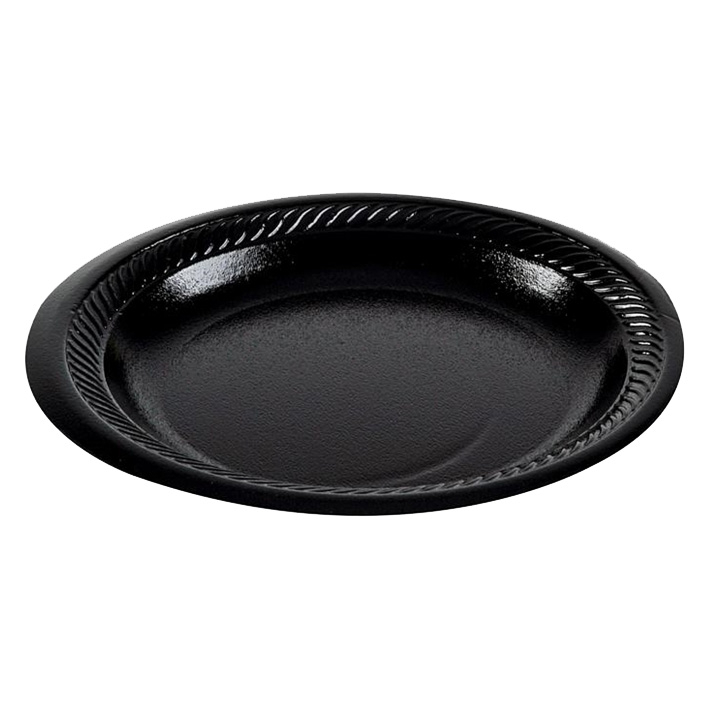 7Inch POLYSTYRENE PLATE BLACK LAMINATED - CASE X 900