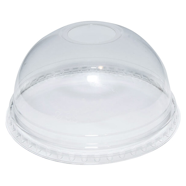 10Oz Dome Lid With Hole To Fit TP10D   1000 Per Case   DLR610
