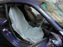 White Polythene Seat Covers