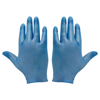 Blue Vinyl Disposable Gloves (Pack/100)