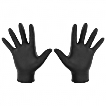 Black Nitrile Powder Free Disposable Gloves (Pack/100)