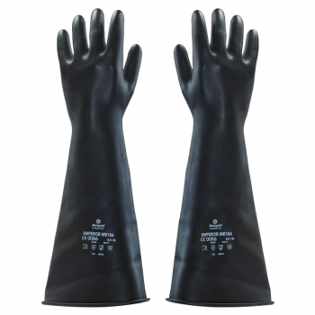 Black Rubber Gauntlets (Pack/10)
