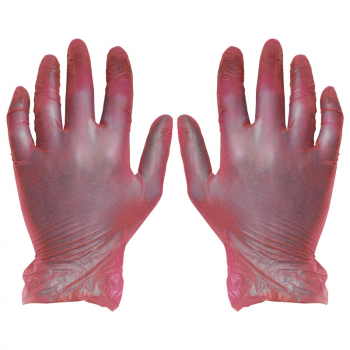 Red Vinyl Disposable Gloves (Pack/100)