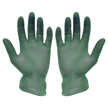 Green Vinyl Powder Free Disposable Gloves (Pack/100)